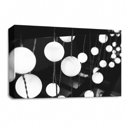 Modern Abstract Wall art Picture Black White Grey Spots Print